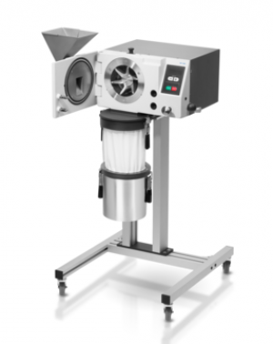 Feed material: soft, medium-hard Material feed size*: < 25 mm Final fineness*: < 50 µm Speed at 50 Hz (60 Hz): 3,000 - 10,000 min-1
