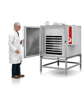 Operating temp range CDLT (°C): Ambient to 50         Operating temp range CDHT (°C): Ambient  10 to 200         Chamber volumes CDLT,CDHT: 454 litres