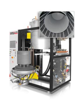 Max temp: 2200 °C Volumes: 50 to 200 litres         Insulation material: Graphite