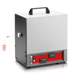 The PTC thermocouple calibration furnace is designed to provide a high stability portable heat source for the calibration of thermocouples using the comparison method.