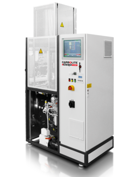 Max temp: 1050 °C Volumes: 7.6 to 95 litres         Automatic tube furnace for applications in atmospheres with highest possible purity