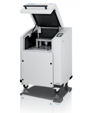 Applications: preparation of pellets for spectral analyses Max. pressure: 40 t, automatic press